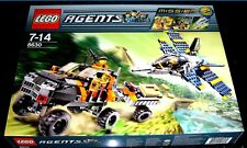 "Lego Agents ""GOLD HUNT"" 8630 Rare Supersonic Jet Truck & Trailer New Sealed Box"