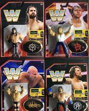 WWE Los 4 COMPLETO LOTE Mattel Retro Serie 3 figura de acción Lucha Libre