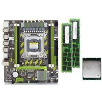 X79 X79G Motherboard Set mit LGA2011 Combos Xeon E5 2620 CPU 2 StüCk X 4 GB H6H6