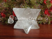 Large Crystal Quartz Merkaba Star Sacred Geometry Crystal Grid Star of David