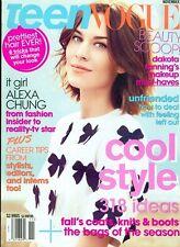 2011 Teen Vogue Magazine: Alexa Chung/Dakota Faning's Makeup Must Haves/Coats