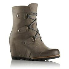 Sorel Womens Joan of Arctic Wedge Mid Boot Dark Fog Size 9