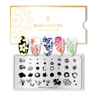 BORN PRETTY Rectangle Nail Art Stamp Template Nail Stamping Plate Overprint-L001