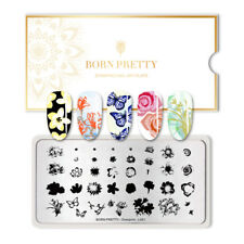 BORN PRETTY Rectangle Nail Stamping Plate Nail Art Stamp Template Overprint-L001