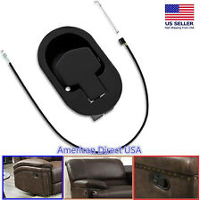 Sofa Recliner Release Pull Handle Replacement  Chair Couch Cable Lever Black US