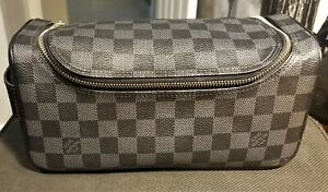 Louis Vuitton Damier Graphite Toiletry Pouch N47625 (with LV dust bag)