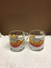 Pair Of 1978 Mcdonald's Garfield Glass Coffee Cups