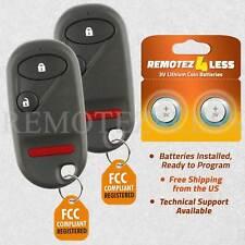 2 For 1996 1997 1998 1999 2000 Honda Civic Remote Car Keyless Entry Key Fob