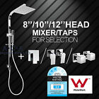 LED Light / ABS / Stainless Steel Square Shower Head Rain Handheld Set/Mixer Tap