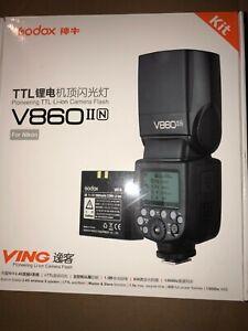 Godox VING V860IIN TTL Li-Ion Flash Kit for Nikon Cameras