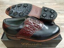 NEW Footjoy Classics Dry Premiere Mens Golf Shoes 50088 BLK/BRN Croc 12D