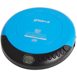 Groov-e GVPS110BE Retro Personal CD Player with 20 Track Programmable Memory, -