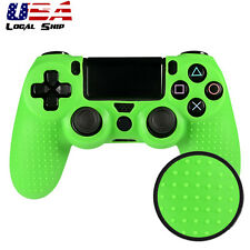 Green Convex Spot Pattern Gel Silicone Rubber Skin Case Cover for PS4 Controller