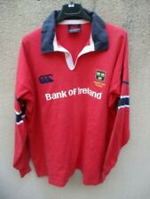 Maillot MUNSTER RUGBY shirt CANTERBURY 2002 2003 coton vintage XL
