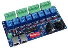 1Pcs 8CH DMX 512 LED Controller DMX512 Dimmer RELAY OUTPUT Decoder Max 10A