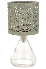 Photophore lampe orientale en métal ajouré et verre conique ou rectangle