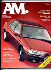 AM. #N.1 Settembre 1989#Mondadori Rivista Mensile Internazionale dell'Automobile