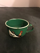 Vintage Baby enamelware cup with rooster 4-14-2017