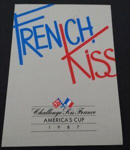 Fan-Aufkleber America´s Cup 1987 French Kiss Segelyacht