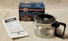 GEMCO 4 Cup Universal Replacement Glass Coffee CARAFE DECANTER POT Black in Box