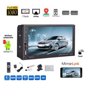 7''2 DIN 8G Android Car Radio GPS+Camera MP5 BT FM Touch AM WIFI iOS Mirror Link