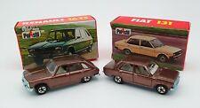 Lot Polistil Fiat 131  Renault 16 NEUF BOITES MIB 1977 (Majorette, Guisval...)