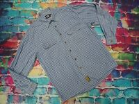Q22 CAT Caterpillar Heavy Cotton Checked Winter Shirt Large