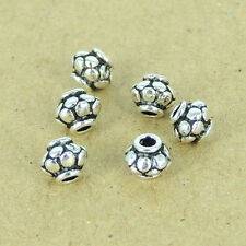 10 Pcs Sterling Silver Spacer Beads 925 Vintage Celtic 5x4mm Charm 925 WSP297X10