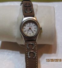 Horse Shoe Accents Leather Band F10 Beautiful Sante Fe Peyote Bird Designs Watch