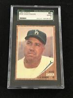 1962 Topps Duke Snider #500 SGC 6 Baseball Card Dodgers
