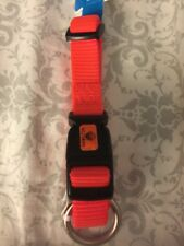 New Hamilton Adjustable Dog Collar Bright Orange Small