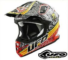 UFO Plast Warrior H1 Eagle Nero Helmet - MX MTB Motard Enduro - Adult Small