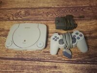 Sony SCPH-101 PlayStation PS One Console & AC Adapter FOR PARTS ONLY