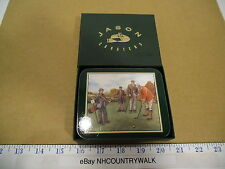Jason Products NZ Rectangular Vintage Golfing Memories 6 Cork Backed Coasters