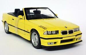 UT Models 1/18 Scale 20473 BMW M3 E36 Cabriolet Dakar Yellow Diecast Model Car