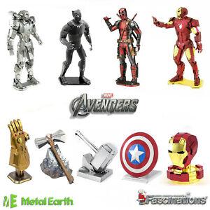 Metal Earth Avengers DIY Metal Model Kit Marvel Iron Man Thor Infinity Gauntlet