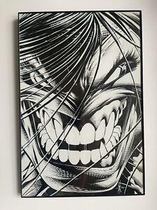 DALE KEOWN - PITT B&W FACE 12x18 UNFRAMED Comic Vintage ART PRINT