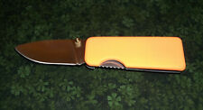 Mini Money Clip Folding Pocket Knife Small 4 1/2in. (NEON ORANGE)