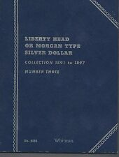 Liberty Head Morgan Silver Dollar 1891-1897 Whitman Folder USED