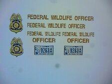 US Federal Wildlife Officer Vehicle Decals  1:24