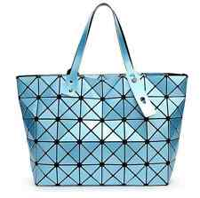 High Quality BAO BAO Issey Miyake Metallic SKY BLUE TOTE Bag  NEW