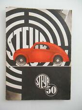 Steyr Typ 50 Prospekt brochure 1936 . Sehr selten!!!