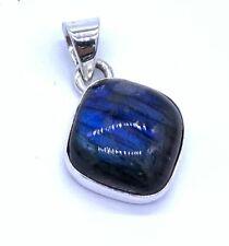 925 Sterling Silver Labradorite Gemstone Designer Pendant Necklace Jewellery