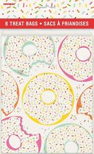 8 Donut Sprinkles Paper Treat Loot Lolly Bag Birthday Candy Buffet Party Favours