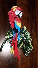 5XL-Patch roter Papagei Ara Vogel mit Pailletten Bügelbild Flicken zum Aufbügeln