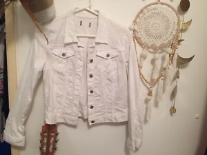 White Denim Jacket Size 12