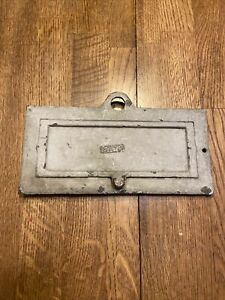 Early 1900s Antique Post Office Brass Letters Door Mail Delivery Slot 2lbs!!