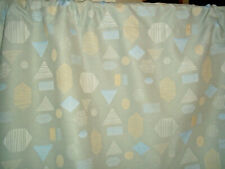 Vintage mid century modern abstract shapes fabric curtains drapery panels!