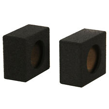"QPower QBomb QBTW6.5 Single 6.5"" Bedliner Spray Car Speaker Box Enclosures, Pair"