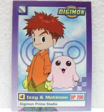 DIGIMON TRADING CARDS - IZZY & MOTIMON 7/34 - CARTE UFFICIALI SERIE TV-1a SERIE